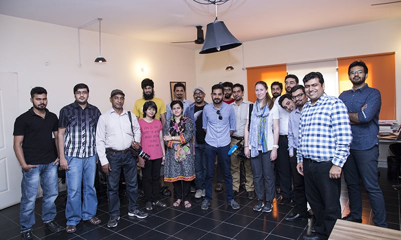 Creative Frontiers employs around 20 people, including young male and female artists, programmers and writers, in a hip Silicon Valley-style office in Lahore.— Photo Courtesy of   Mustafa Hasnain