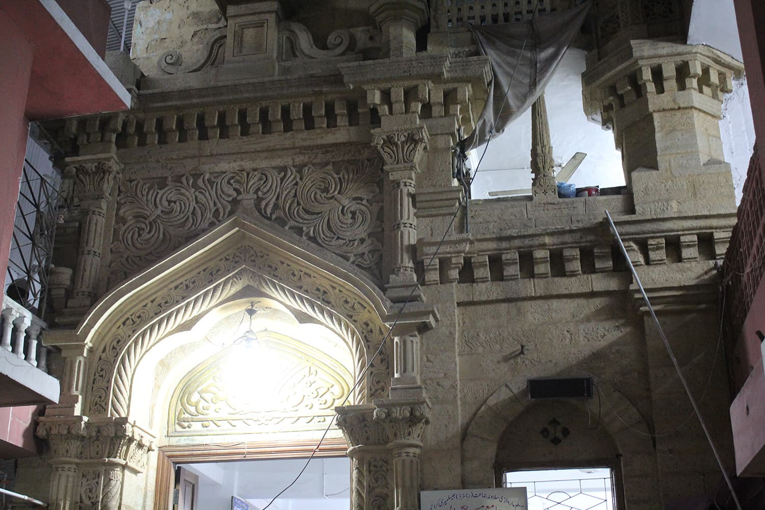 The Jamia Mosque Beech Wali in Ranchore Line is more than 250 years old. — Muhammad Umar