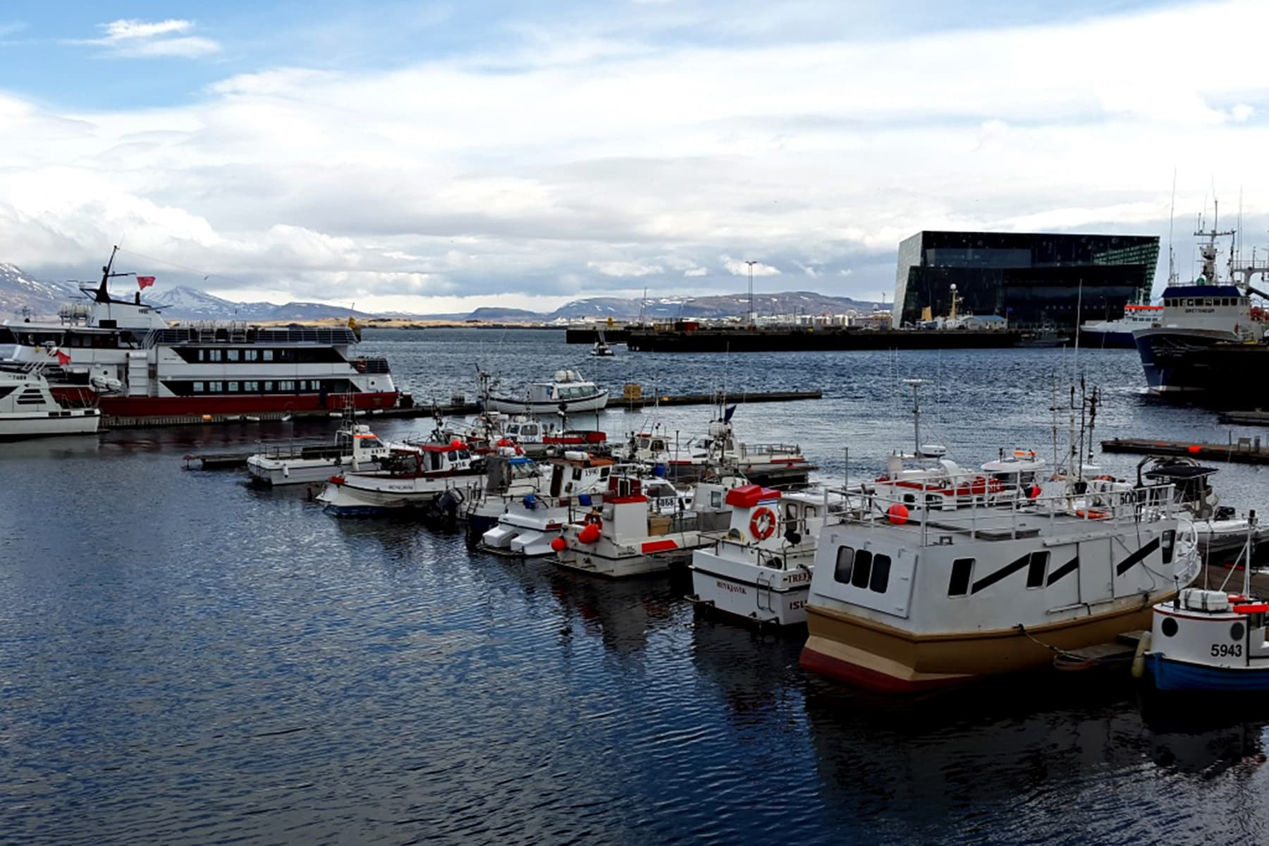 Reykjavik's old harbour overlooks the North Atlantic Ocean.