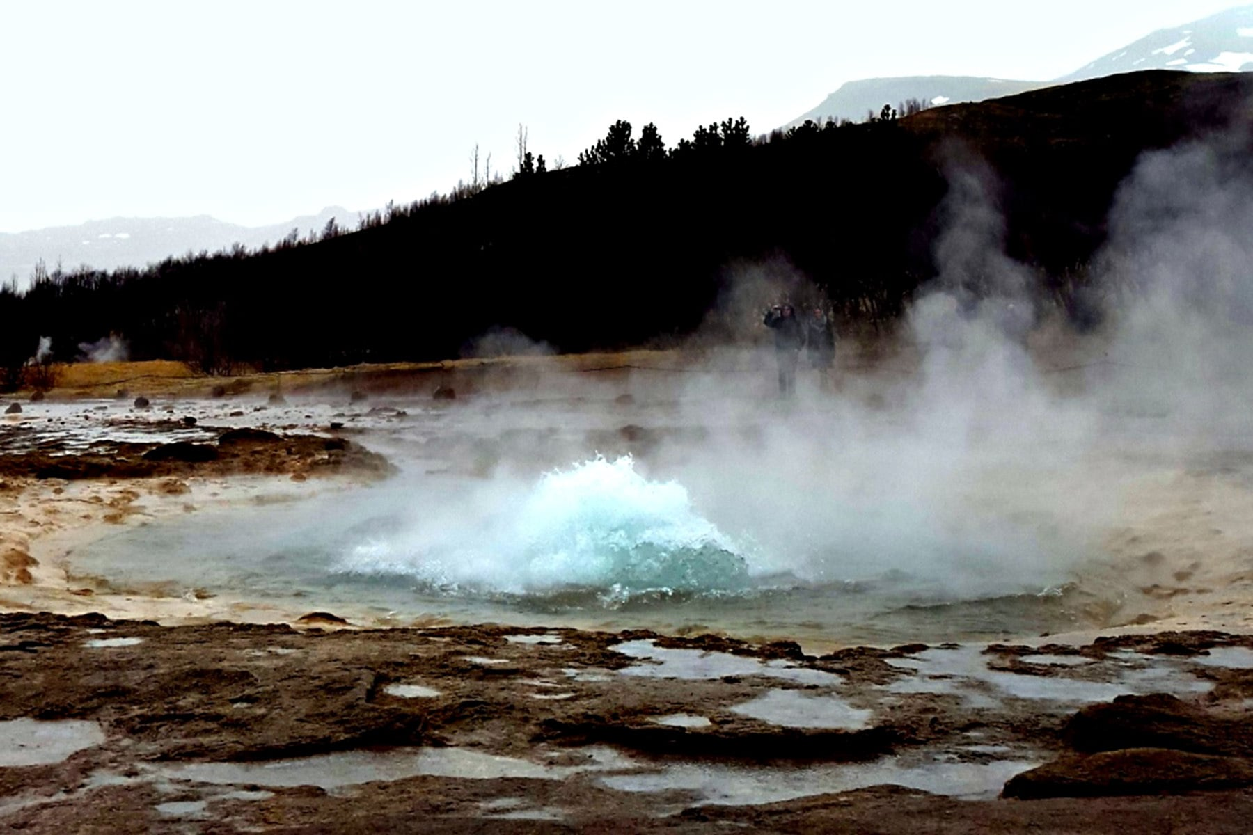 The 'Geysir' is a popular attraction on the Golden Circle.