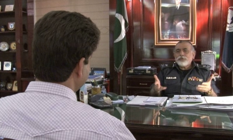 IG KP Nasir Durrani said that Iftikhar was under mob charge during clashes between ANP and PTI activists following local body elections. ─ Photo DawnNews