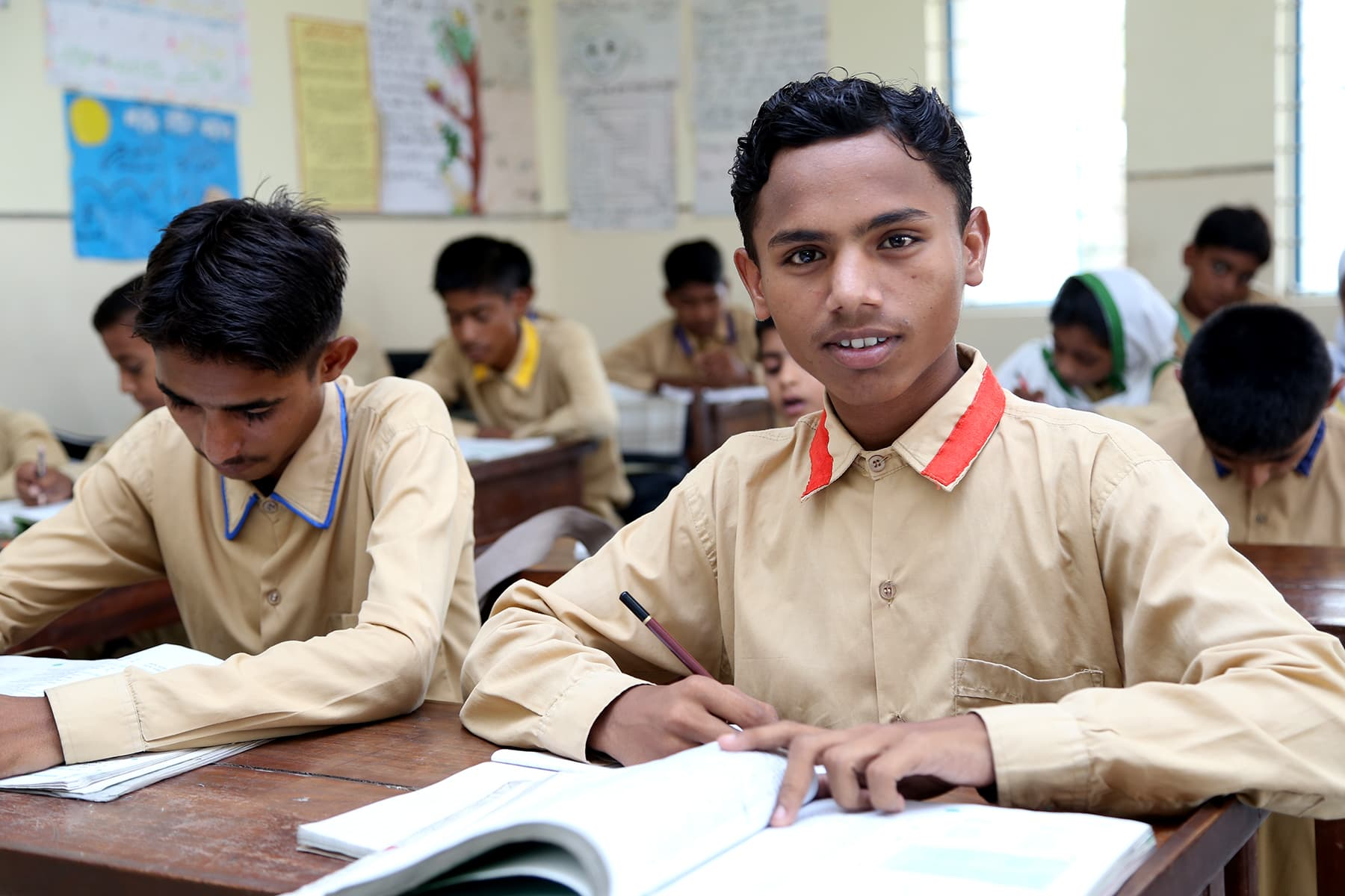 Khalil Ahmed pictured in his classroom. - Photo by Mustafa Ilyas