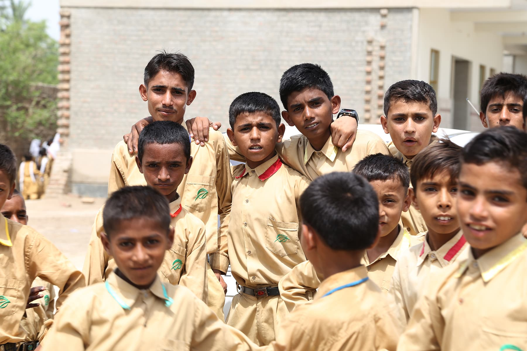 Students at the Gambat TCF school pose for a picture - Photo by Mustafa Ilyas