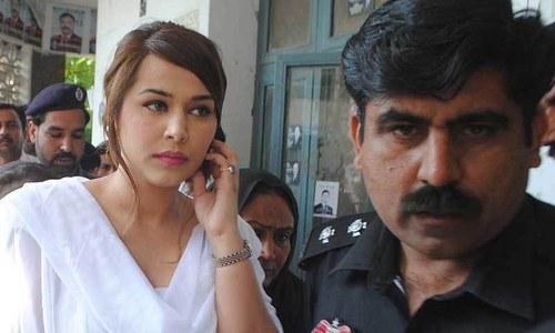 کرنسی اسمگلنگ کیس میں گرفتار سپر ماڈل ایان علی —۔فائل فوٹو/ آئی این پی