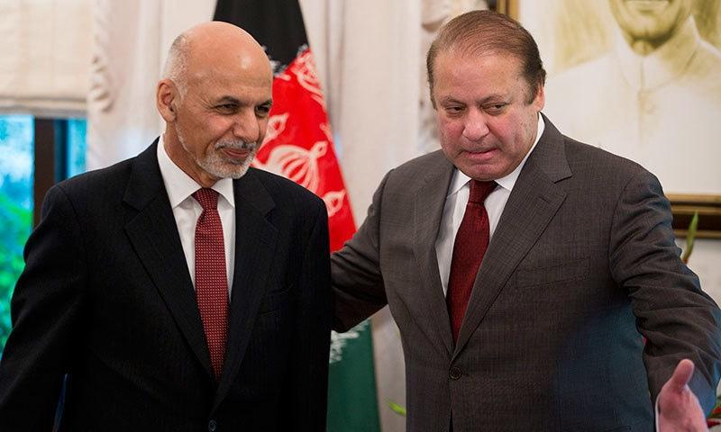 Prime Minister Nawaz Sharif with Afghan President Ashraf Ghani in Islamabad | AFP