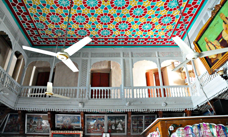 Sadho Belo - Inside the temple