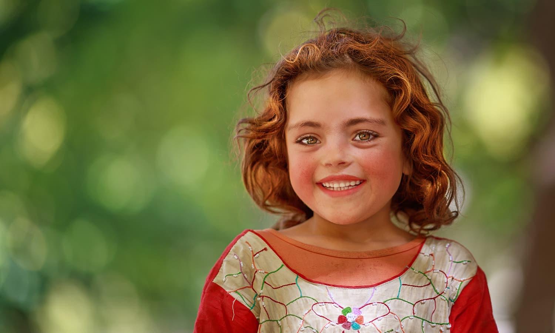 A child at Hussaini.