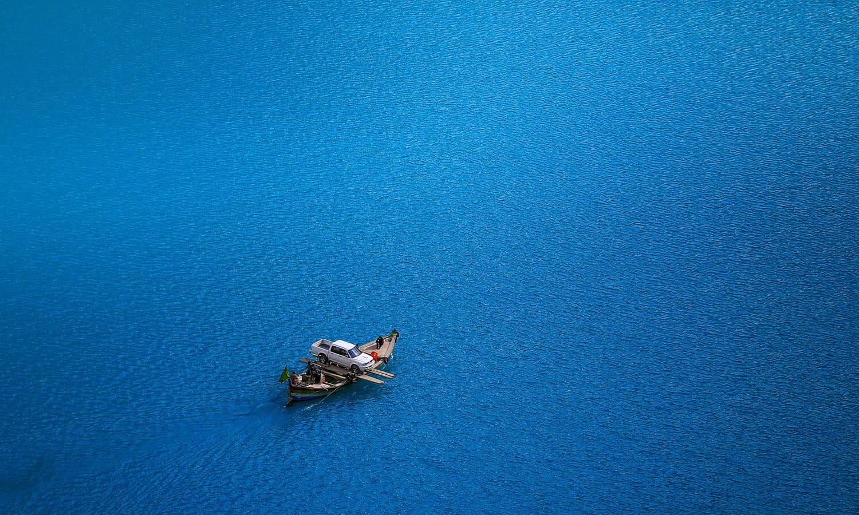 Attabad Lake Crossing.