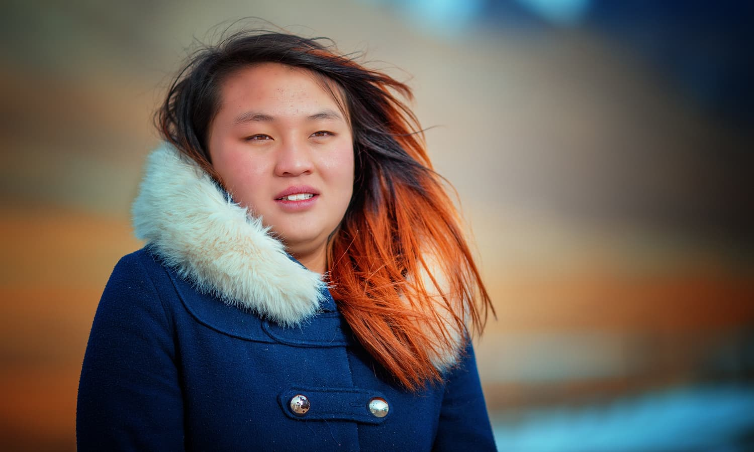 A Chinese girl On the Khunjerab Pass.