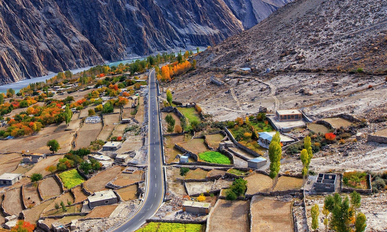 Gulmit Village.