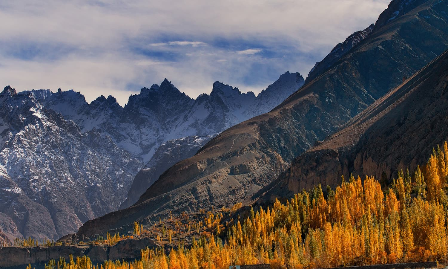 Autumn and the Karakoram Peaks.