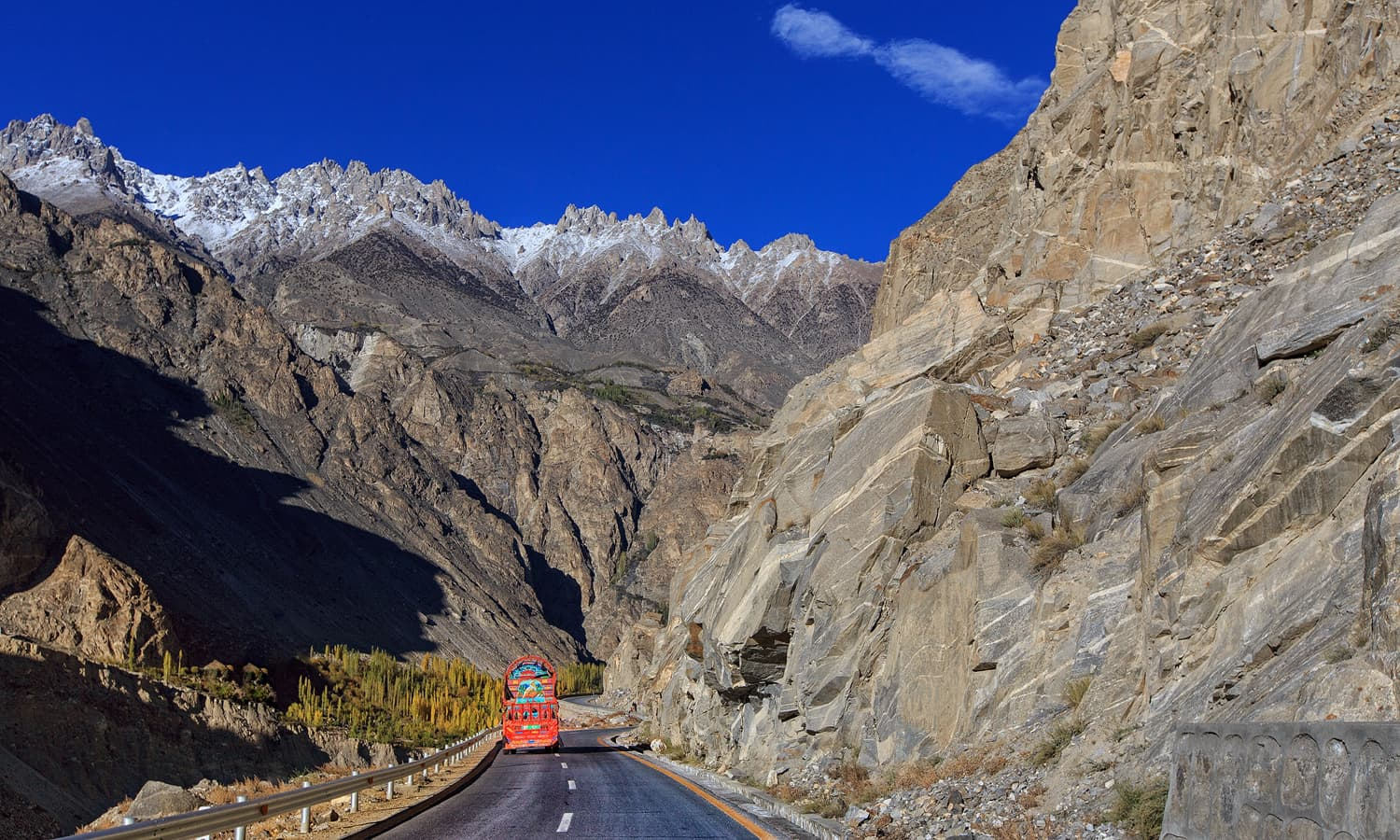 Karakoram Highway in Gojal.