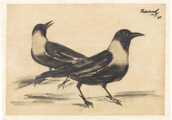 Zainul Abedin's Untitled (Crows)