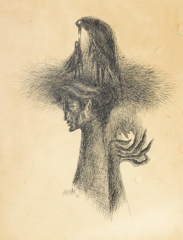 Sadequain's Untitled (Self Portrait)