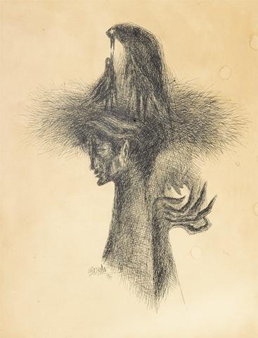 Sadequain's Untitled (Self Portrait)