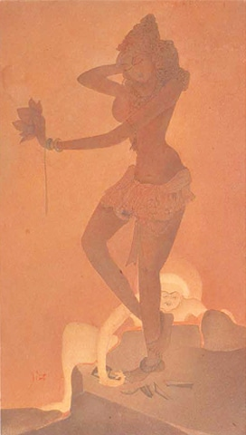 PAKISTANI masters in London: Abdur Rahman Chughtai's 'Dancing Girl'