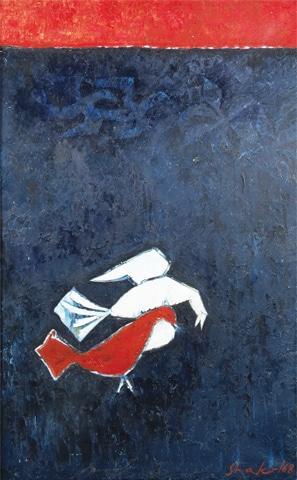 Shakir Ali's Untitled (Birds)