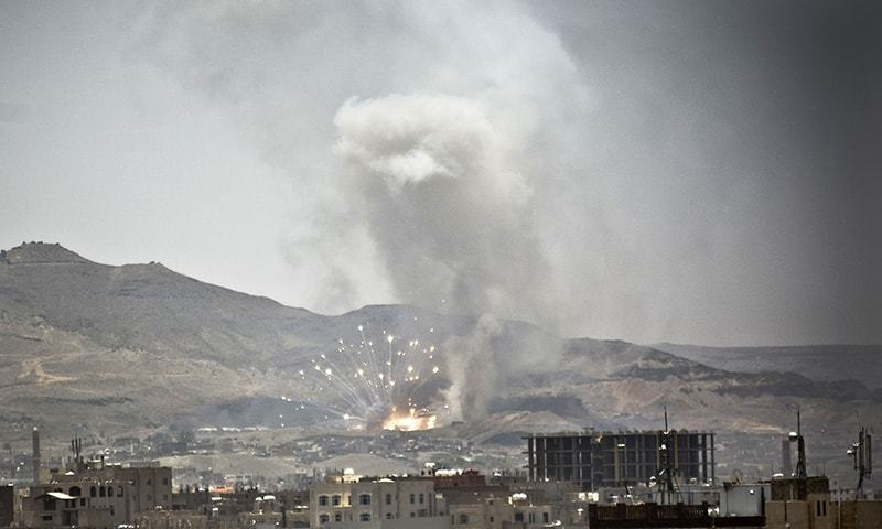 """""""More than 44 citizens were martyred and 100 others including women and children, according to preliminary figures,"""" the Houthi-run state news agency said. ─ AP/File"""