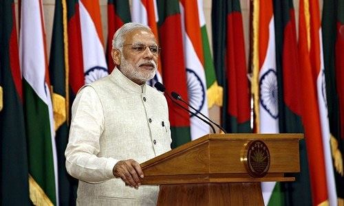 India's Prime Minister Narendra Modi speaks after signing an agreement with Bangladesh government in Dhaka June 6, 2015. —Reuters