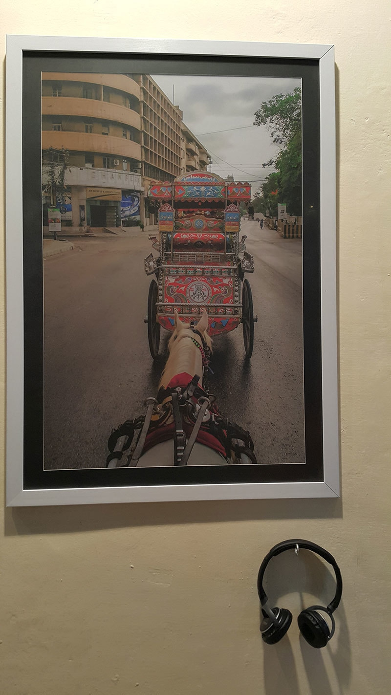 The pictures of buggies were complemented by stories of the drivers — Photo by Zoya Anwer
