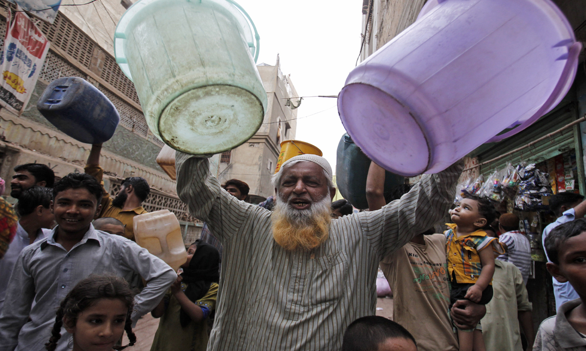 Pakistan is among the world's 36 most water-stressed countries and the situation gets worse as the population increases. -AP/File