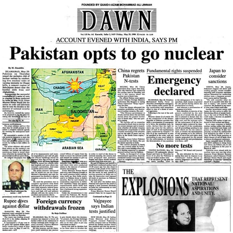 BLAST FROM THE PAST: Pakistan goes nuclear on May 28, 1998