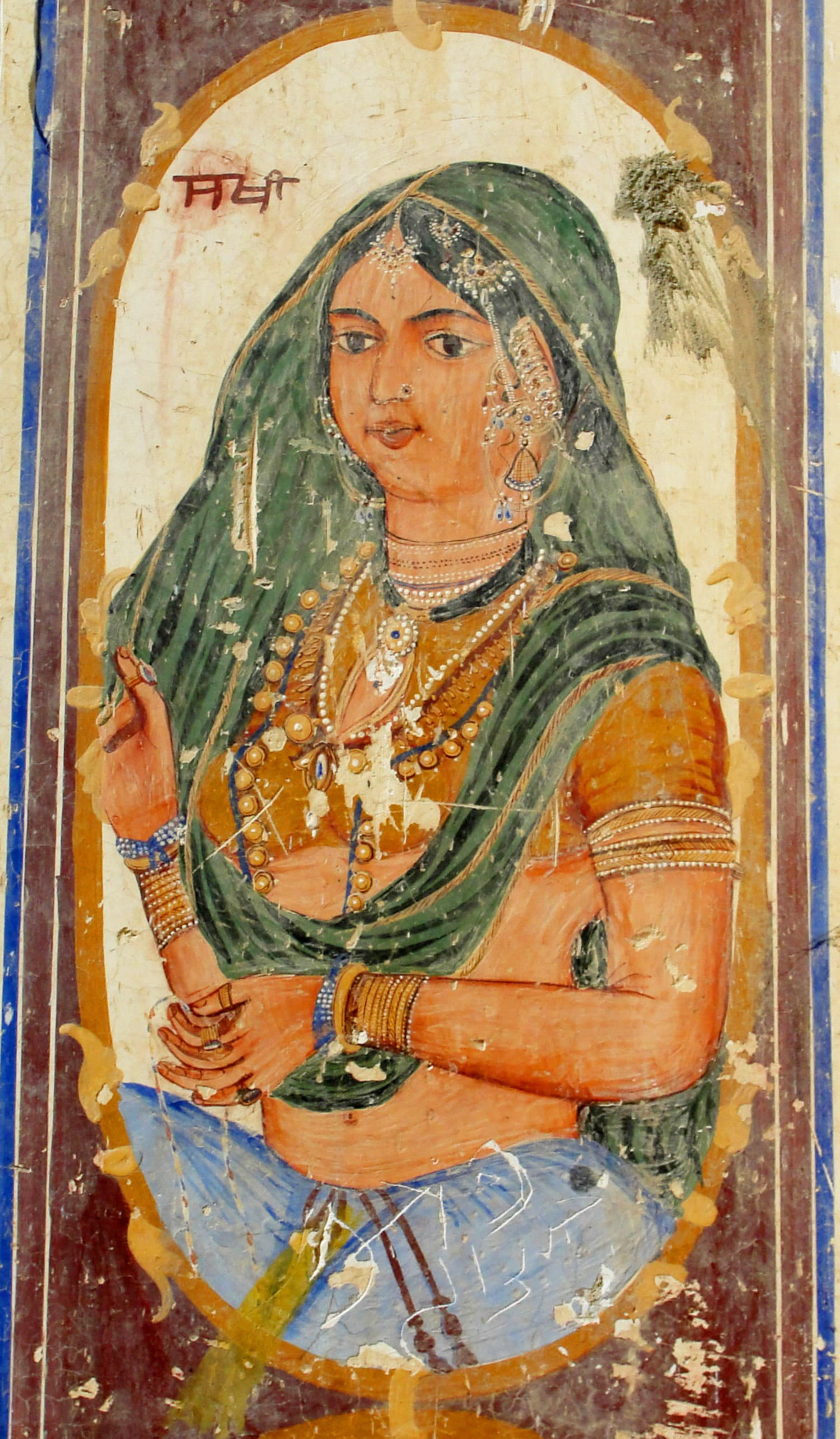 Depiction of a Sikh woman.