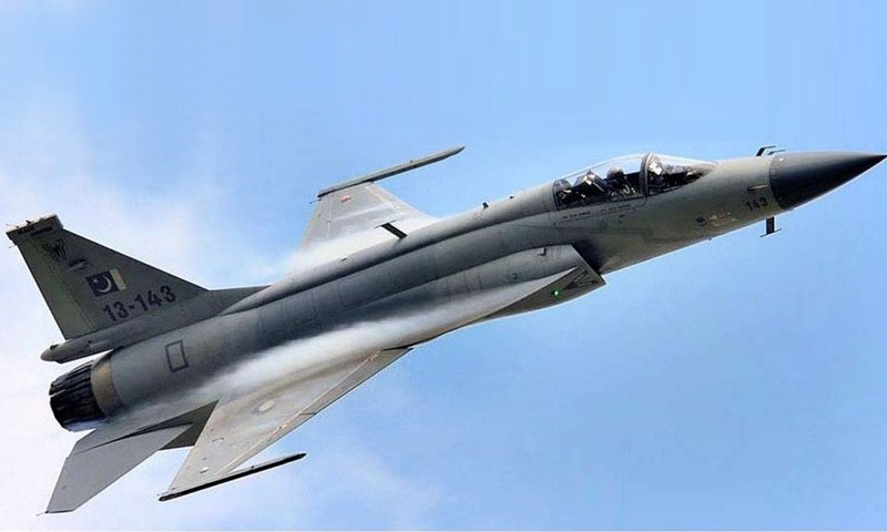 JF-17 Thunder performing practice aerobatics during the 51st Paris Air Show at the Le Bourget Parc des Expositions France.- Photo: APP