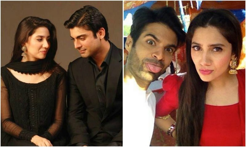 Mahira and Fawad (L) stole hearts worldwide as Asher and Khirad in Humsafar whereas Adnan Malik and Mahira worked together with ease (R)