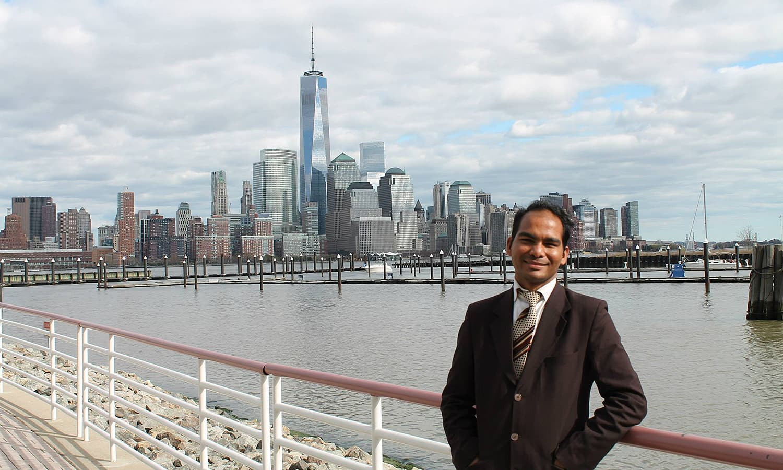 Sabir pictured in New York.