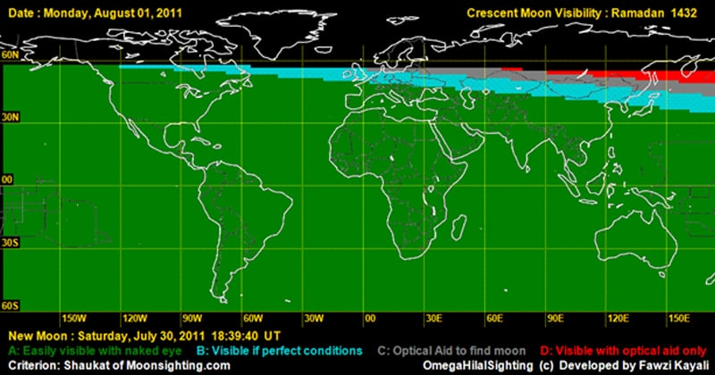 Image courtesy: Moonsighting.com