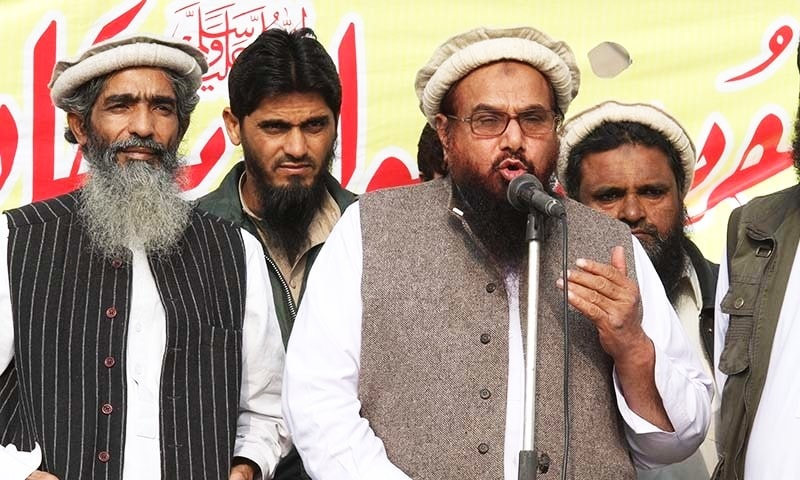 Jamaatud Dawa chief, Hafiz Mohammad Saeed addresses a rally | AP