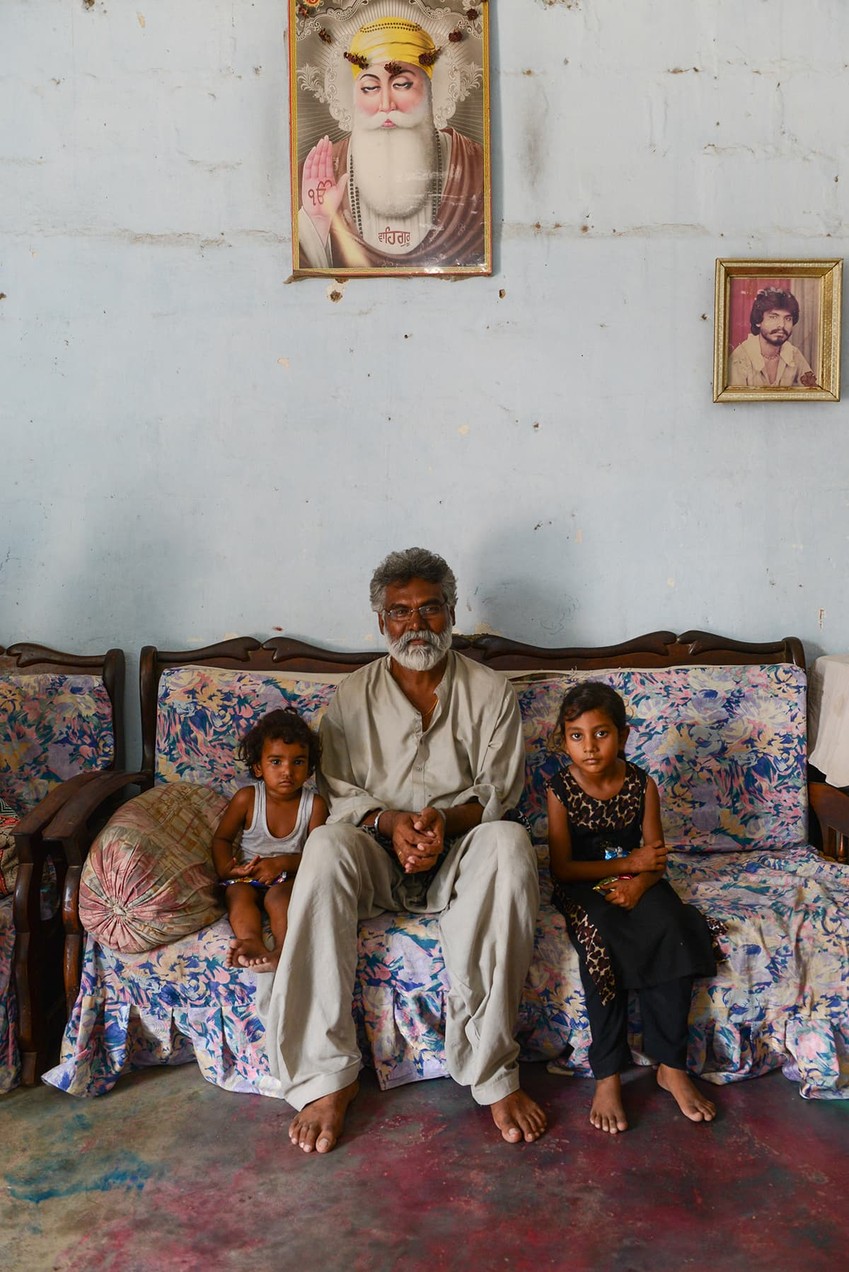 Babu Lal with his granddaughters at his residence | Tahir Jamal, White Star