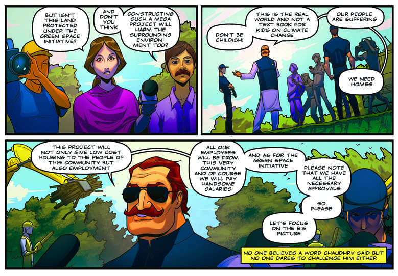 A page from the first chapter of the comic. — Photo courtesy: Facebook