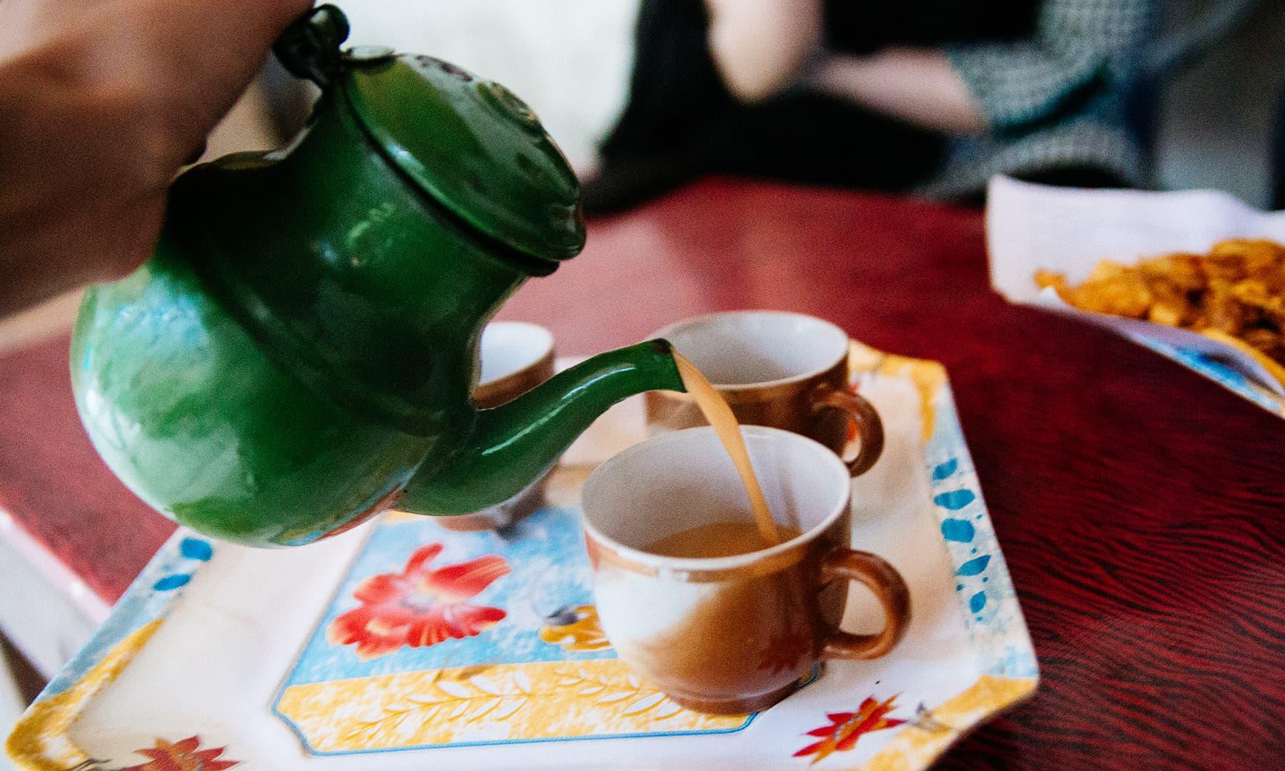 Chai at Keran. —Marvi Soomro