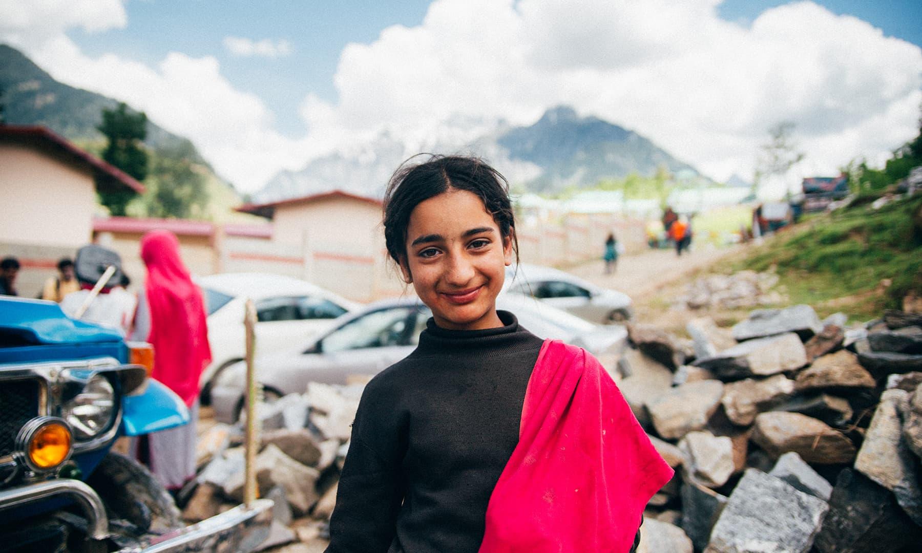 Shaista, a grade-5 student at Kel. —Marvi Soomro