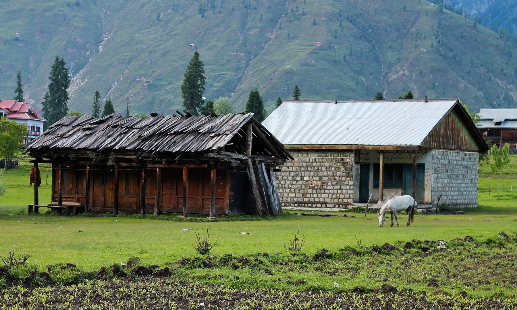 Huts in Arang Kel village. —Asif Mahmood