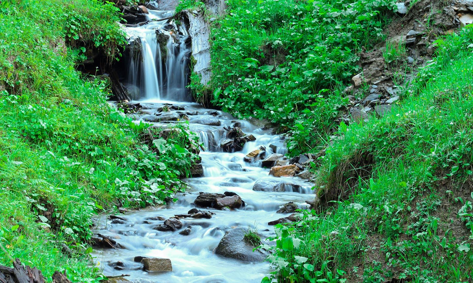 Waterfalls in Arang Kel. —Asif Mahmood