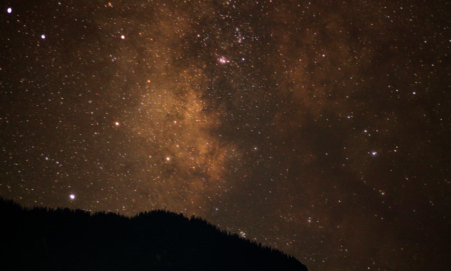 Starry skies in Shardha. —Asif Mahmood