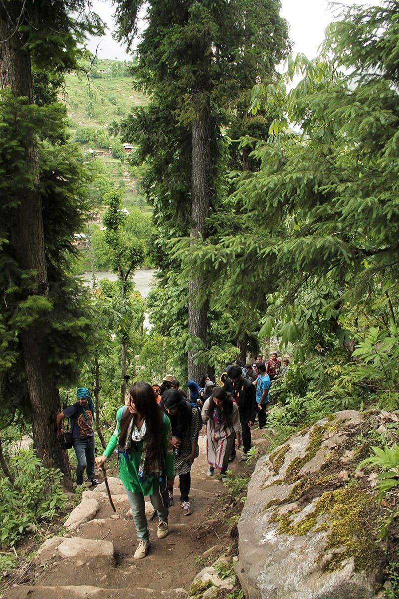 The trek to Arangkel. —Asif Mahmood