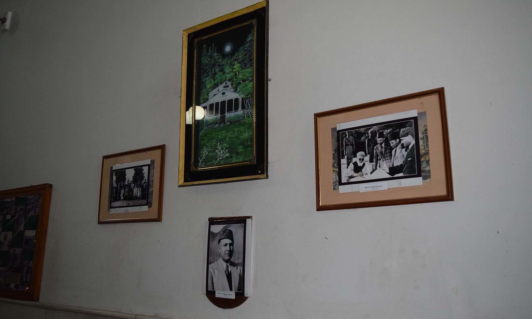 ریاستی دور کی تصاویر جن میں بادشاہ صاحب اور والئی سوات کی تصویر نمایاں ہیں۔