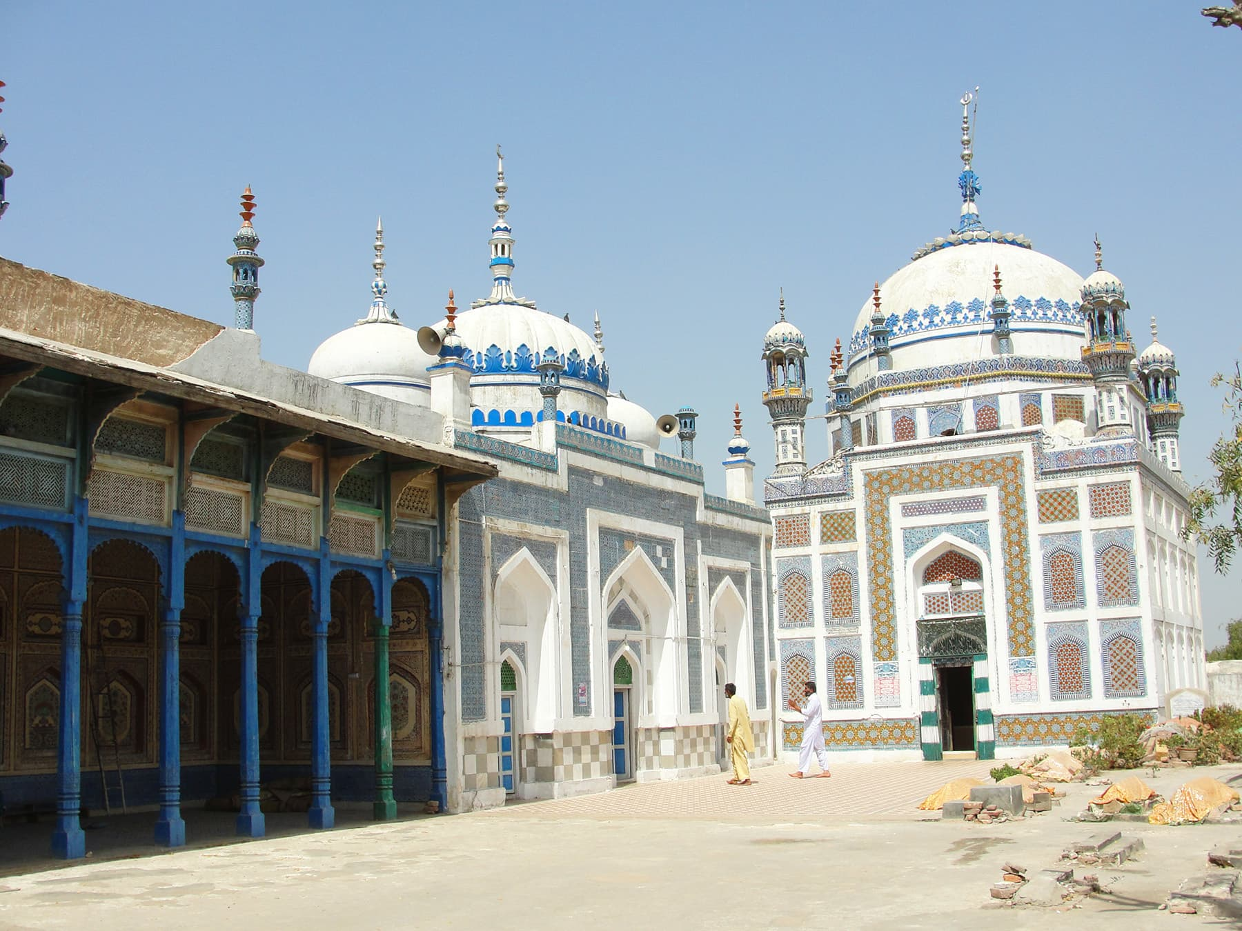 A view of the shrine and the mosques.