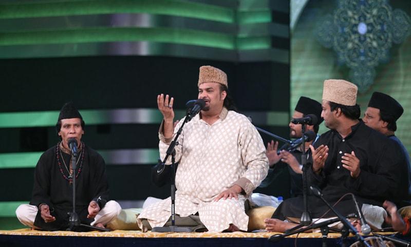 Amjad Sabri performing at Pakistan Idol 2014