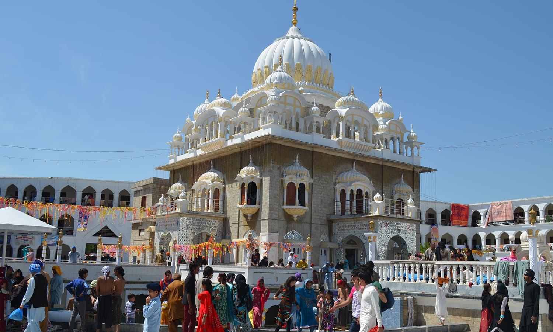 A view of Gurdwara Punja Sahib.