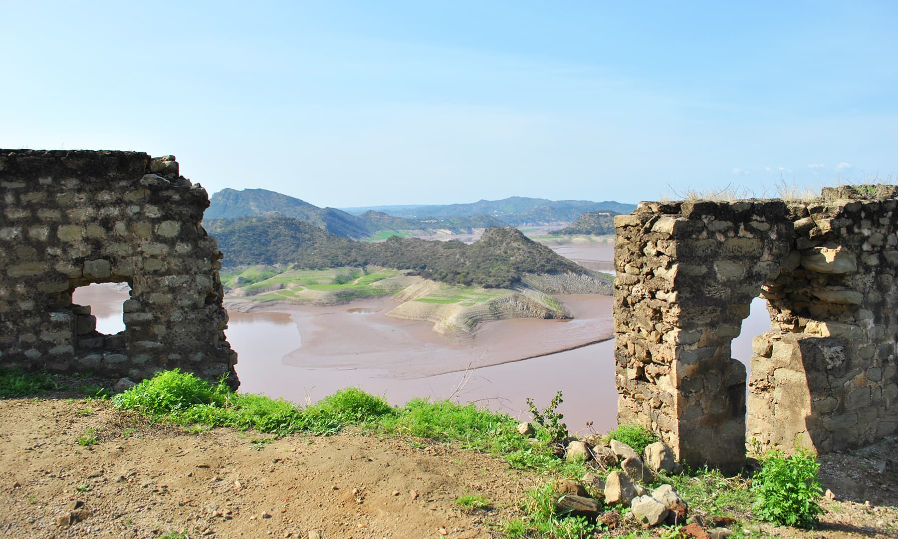 Looking over Mangla Lake, Ramkot Fort has the potential of becoming a great tourists attraction once it is fully restored.
