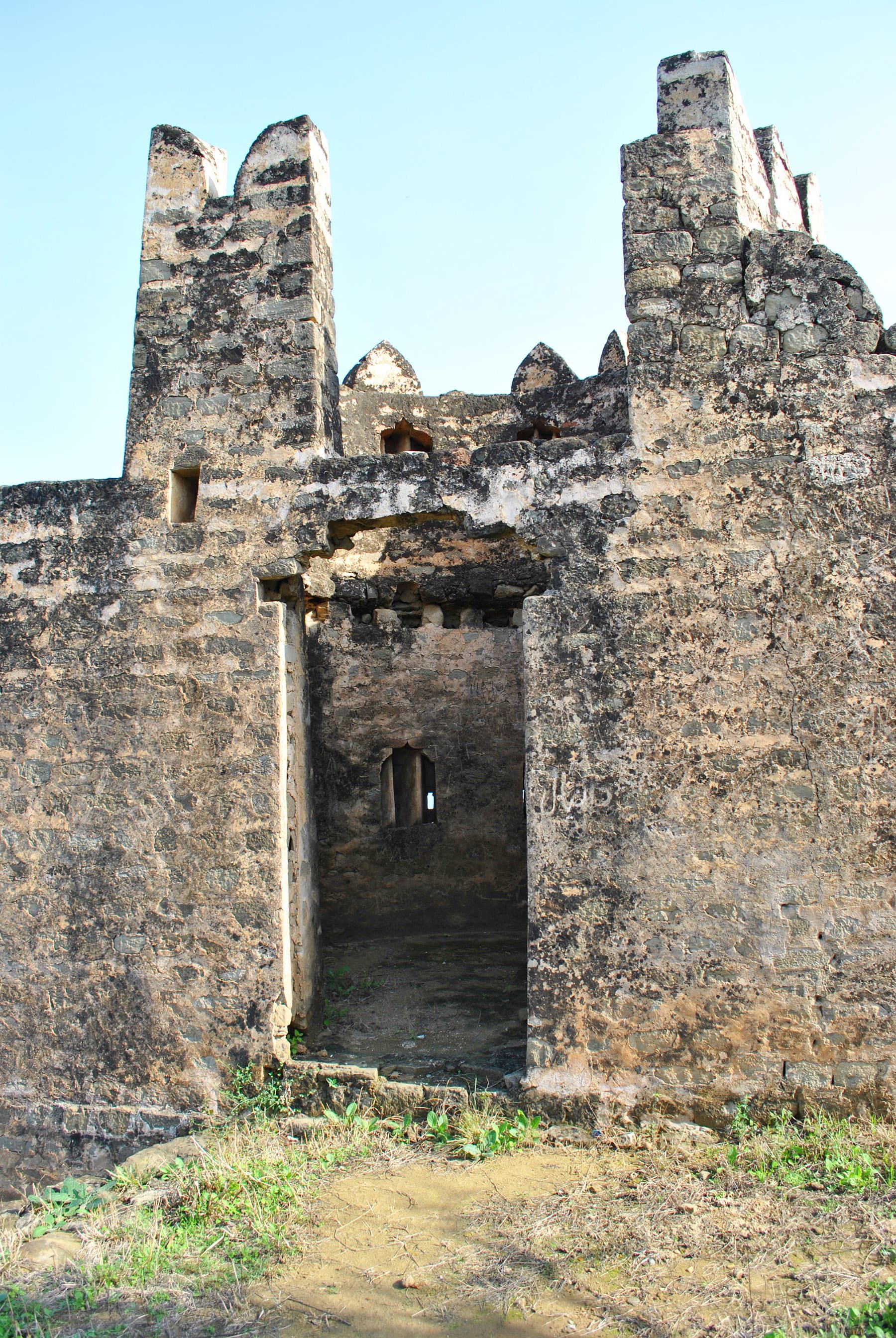 Narrow loopholes for musketry are alterations of the time when Dogra Maharaja of Kashmir held this fort in 19th century.