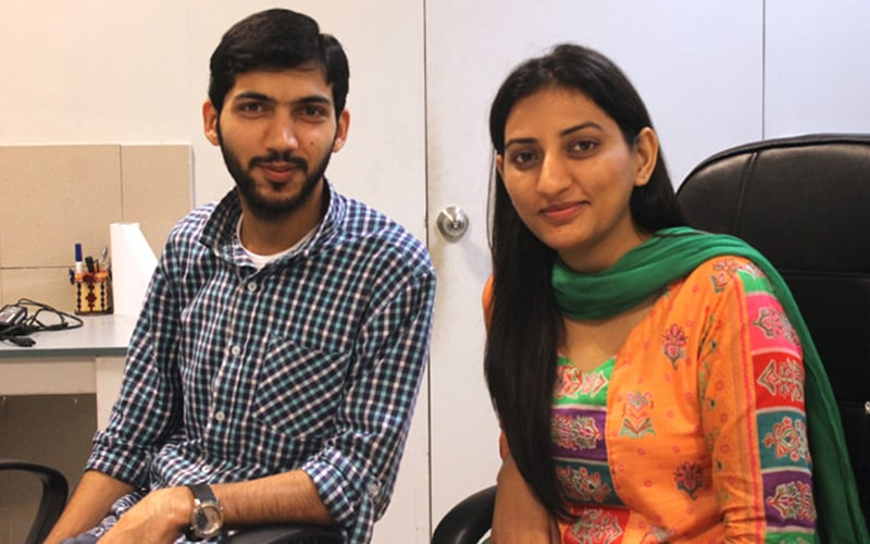 Waqas Ali and Sidra Qasim of Markhor — Publicity photo