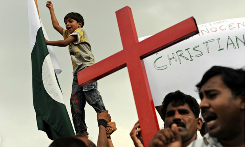 Police save Christian couple from 'blasphemy' mob near Lahore