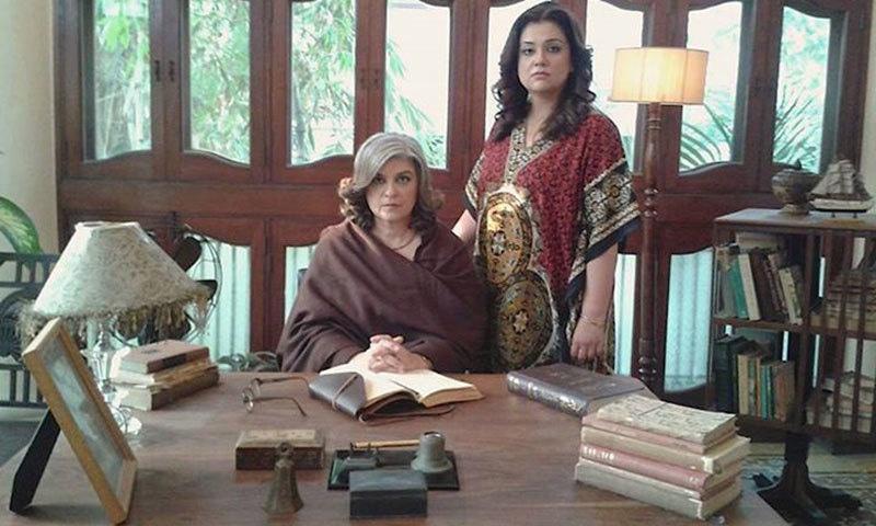 Marina Khan and Sonya Rehman in 'Lala Begum'. —Photo courtesy: Mehreen Jabbar's Facebook page