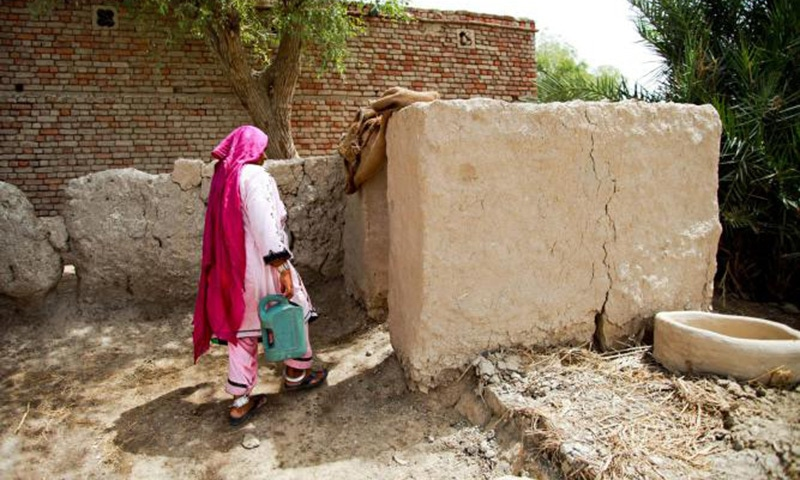 According to UN report, 64 per cent of the population in Pakistan now has access to sanitation compared to 24 per cent in 1990, a feat achieved by only 95 countries so far. —Photo courtesy: Unicef.org